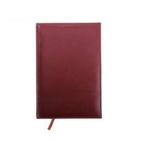 Ежедневник полудатированный А5 193 листа, линейка, золотой срез, бордо