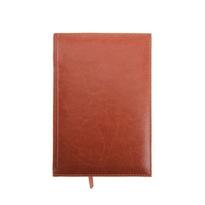 Ежедневник полудатированный А5 193 листа, линейка, золотой срез, светло-коричневый