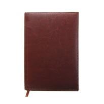 Ежедневник полудатированный А5 193 листа, линейка, золотой срез, коньяк