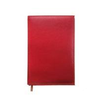 Ежедневник полудатированный А5 193 листа, линейка, золотой срез, красный