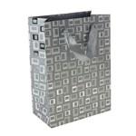 """Подарочный пакет """"Серебрянные квадраты"""""""