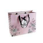 """Подарочный пакет """"Винтаж"""" розовый"""