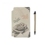 Записная книжка тв обл А5 96л лин на резинке Цветы с ручкой МИКС в подар коробке 150 листов